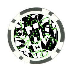 Black, white and green chaos Poker Chip Card Guards