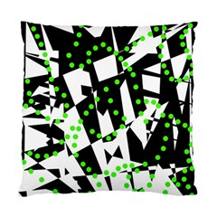 Black, white and green chaos Standard Cushion Case (One Side)