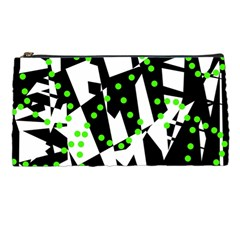 Black, white and green chaos Pencil Cases