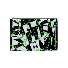 Black, white and green chaos Cosmetic Bag (Medium)