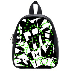 Black, white and green chaos School Bags (Small)