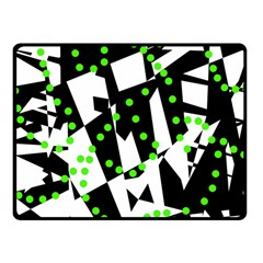 Black, white and green chaos Fleece Blanket (Small)