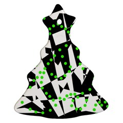 Black, white and green chaos Ornament (Christmas Tree)