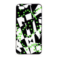 Black, white and green chaos Apple iPhone 4/4s Seamless Case (Black)