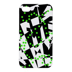 Black, white and green chaos Apple iPhone 4/4S Hardshell Case