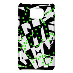 Black, white and green chaos Samsung Galaxy S2 i9100 Hardshell Case