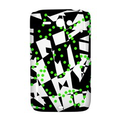 Black, white and green chaos HTC ChaCha / HTC Status Hardshell Case