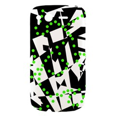 Black, white and green chaos HTC Desire S Hardshell Case