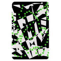 Black, white and green chaos Kindle Fire (1st Gen) Hardshell Case