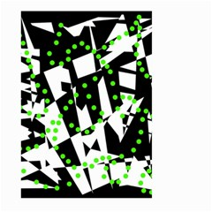 Black, white and green chaos Large Garden Flag (Two Sides)