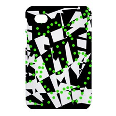 Black, white and green chaos Samsung Galaxy Tab 7  P1000 Hardshell Case