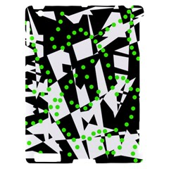 Black, white and green chaos Apple iPad 2 Hardshell Case (Compatible with Smart Cover)