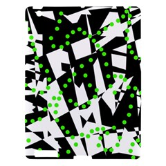 Black, white and green chaos Apple iPad 3/4 Hardshell Case