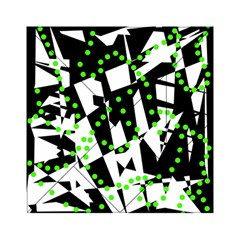 Black, white and green chaos Acrylic Tangram Puzzle (6  x 6 )