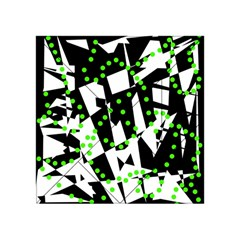 Black, White And Green Chaos Acrylic Tangram Puzzle (4  X 4 )