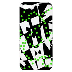 Black, white and green chaos Apple iPhone 5 Hardshell Case