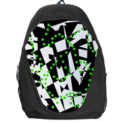 Black, white and green chaos Backpack Bag