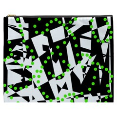 Black, white and green chaos Cosmetic Bag (XXXL)