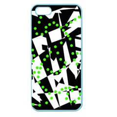 Black, white and green chaos Apple Seamless iPhone 5 Case (Color)
