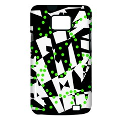 Black, white and green chaos Samsung Galaxy S II i9100 Hardshell Case (PC+Silicone)