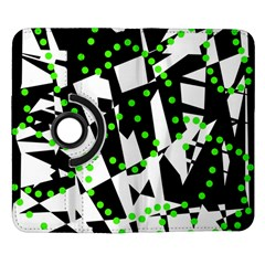 Black, white and green chaos Samsung Galaxy Note II Flip 360 Case