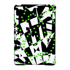 Black, white and green chaos Apple iPad Mini Hardshell Case (Compatible with Smart Cover)