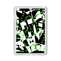 Black, white and green chaos iPad Mini 2 Enamel Coated Cases
