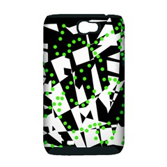 Black, white and green chaos Samsung Galaxy Note 2 Hardshell Case (PC+Silicone)