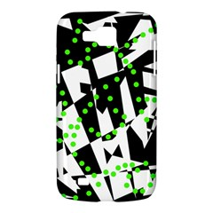 Black, white and green chaos Samsung Galaxy Premier I9260 Hardshell Case