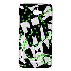 Black, white and green chaos HTC Butterfly X920E Hardshell Case