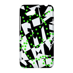 Black, white and green chaos HTC Desire VC (T328D) Hardshell Case