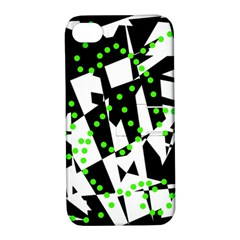 Black, white and green chaos Apple iPhone 4/4S Hardshell Case with Stand