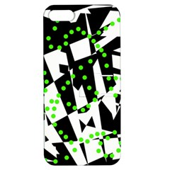 Black, white and green chaos Apple iPhone 5 Hardshell Case with Stand