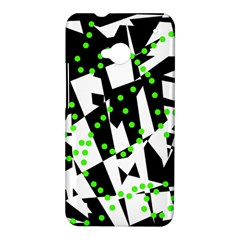 Black, white and green chaos HTC One M7 Hardshell Case