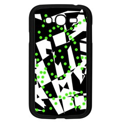Black, white and green chaos Samsung Galaxy Grand DUOS I9082 Case (Black)
