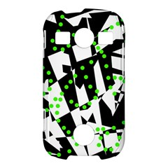 Black, white and green chaos Samsung Galaxy S7710 Xcover 2 Hardshell Case