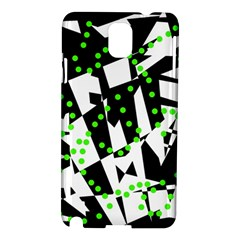 Black, white and green chaos Samsung Galaxy Note 3 N9005 Hardshell Case