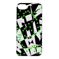 Black, white and green chaos Apple iPhone 5S/ SE Hardshell Case
