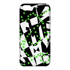 Black, white and green chaos Apple iPhone 5C Hardshell Case