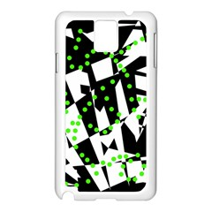 Black, white and green chaos Samsung Galaxy Note 3 N9005 Case (White)