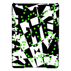 Black, white and green chaos iPad Air Hardshell Cases