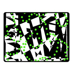 Black, white and green chaos Double Sided Fleece Blanket (Small)