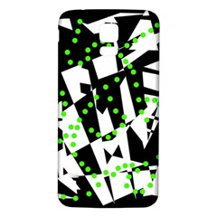 Black, white and green chaos Samsung Galaxy S5 Back Case (White)