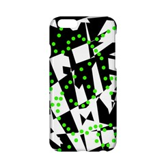 Black, white and green chaos Apple iPhone 6/6S Hardshell Case