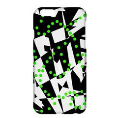 Black, white and green chaos Apple iPhone 6 Plus/6S Plus Hardshell Case
