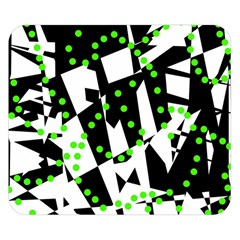 Black, white and green chaos Double Sided Flano Blanket (Small)