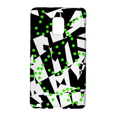 Black, white and green chaos Galaxy Note Edge