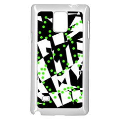Black, white and green chaos Samsung Galaxy Note 4 Case (White)
