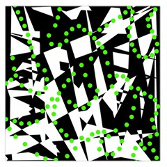 Black, white and green chaos Large Satin Scarf (Square)