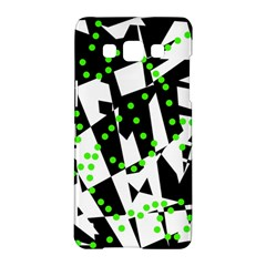 Black, white and green chaos Samsung Galaxy A5 Hardshell Case